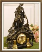 Antique Effect Beautiful Clock Three Graces Empire Style